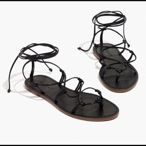 Madewell Boardwalk Lace-Up Sandal Size 5